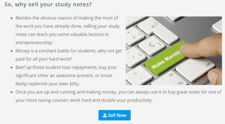 Come vendere le note di studio del college