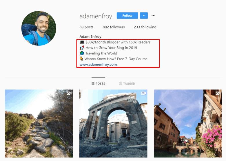 Adam Enfroy Instagram
