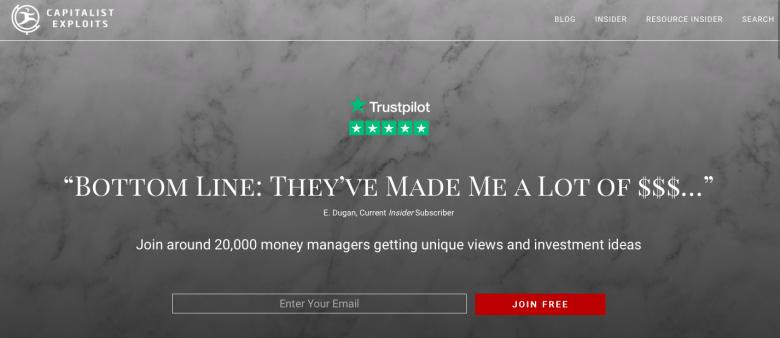 Il capitalista sfrutta la home page