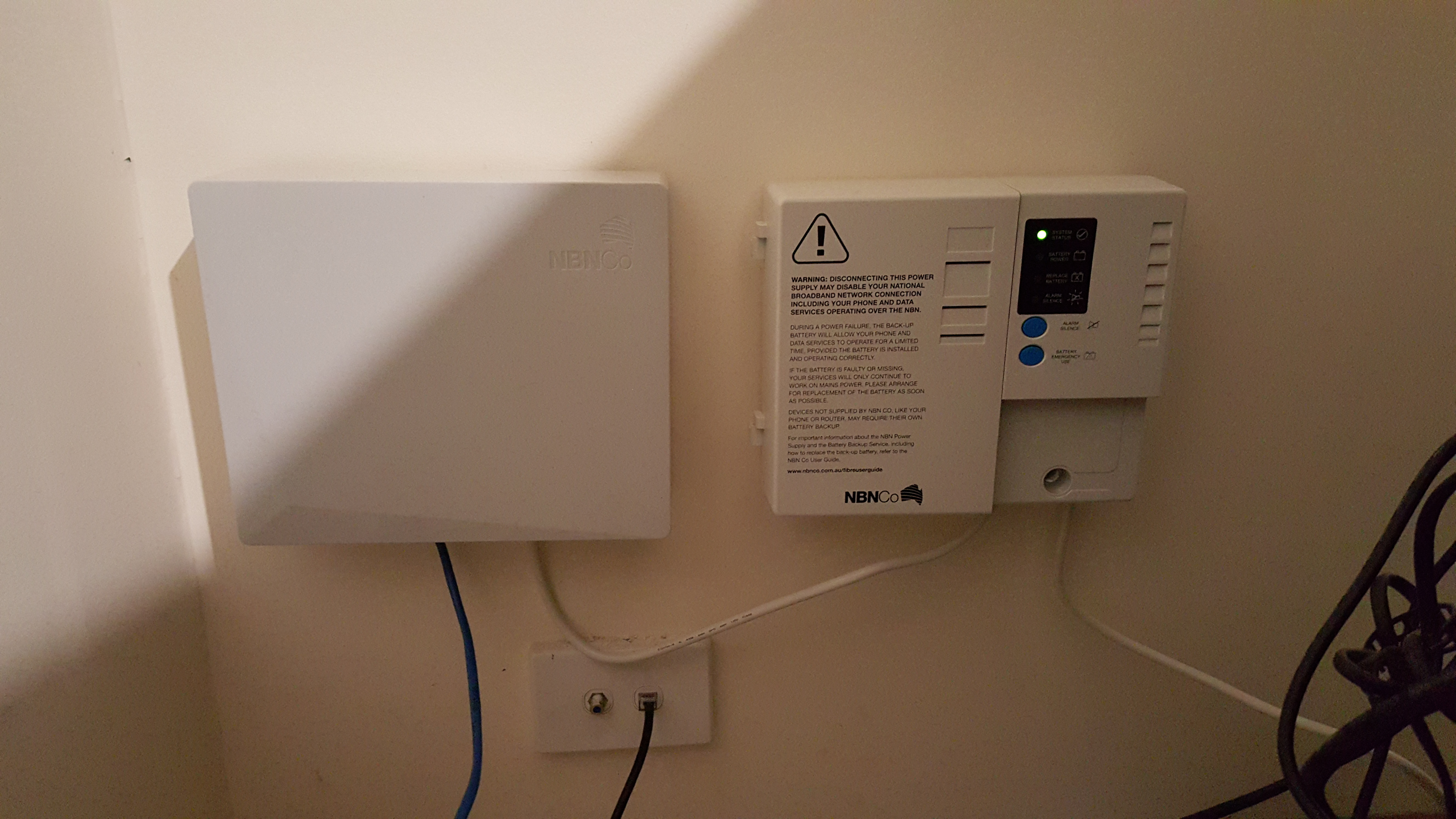 Wiring Your House For Nbn How Does Get To Me Left Connection Box Right Power Supply With Battery Backup Optional