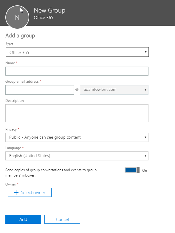 Office 365 Groups Missing from Outlook 2016 - AdamFowlerIT