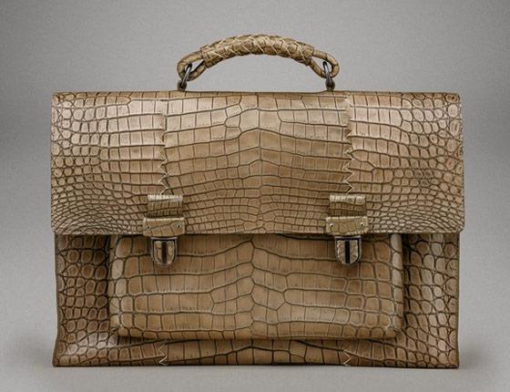 Bottega-Veneta-Uniform-Cocco-Lave-Briefcase