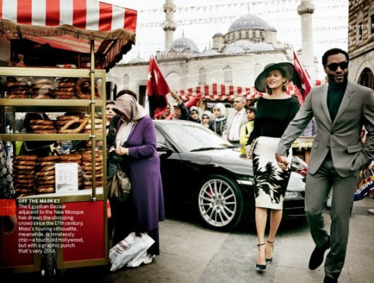 Kate Moss & Chiwetel Ejiofor by Mario Testino for Vogue US December 2013