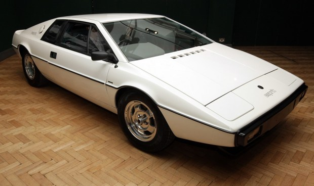 LONDON - NOVEMBER 13: The white 1976 Lotus Esprit car from the 1977 film ' The Spy Who Loved Me ' is displayed on November 13, 2008 in London, England. The classic car is set to be auctioned in Bonhams' annual motoring sale at Olympia, West London on December 1, 2008 and is expected to fetch up to £120,000. (Photo by Oli Scarff/Getty Images)