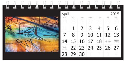 April 2019 Colorful Pond