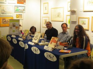 This was the awesome panel for my event: Peter McCarty, Floyd Cooper, and the amazing Quvenzhane Wallis.