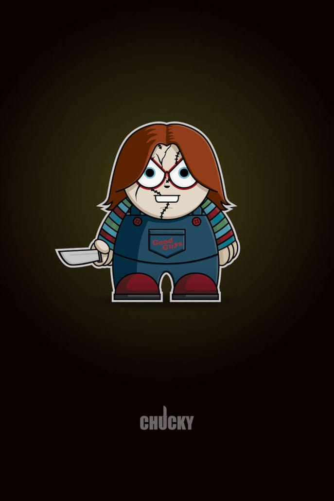 Charles Lee Ray Chucky Chibi By Adam Miconi