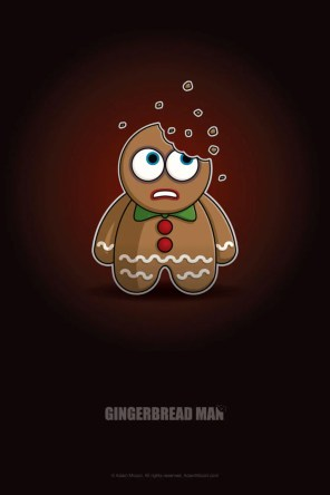 Christmas Gingerbread Man Chibi by Adam Miconi