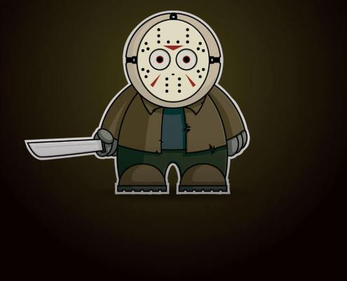 Jason Vorhees Chibi by Adam Miconi