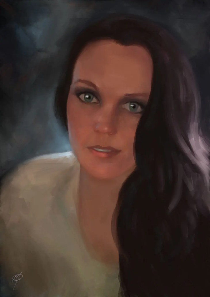 Melinda Miconi digital portrait painting by Adam Miconi
