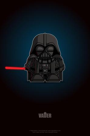 Star Wars Darth Vader Chibi by Adam Miconi