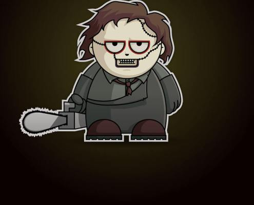 Leatherface Chibi by Adam Miconi