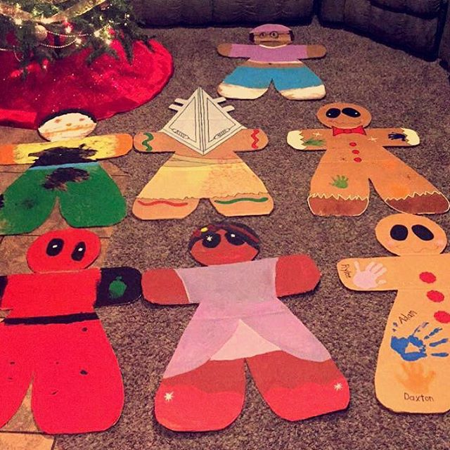 Gingerbread Man Cardboard Painting