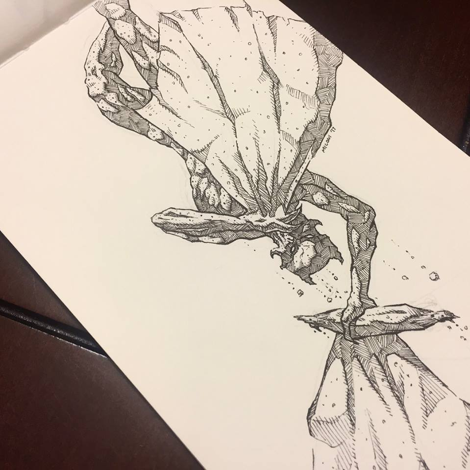 Inktober Day 28 Fall by Adam Miconi