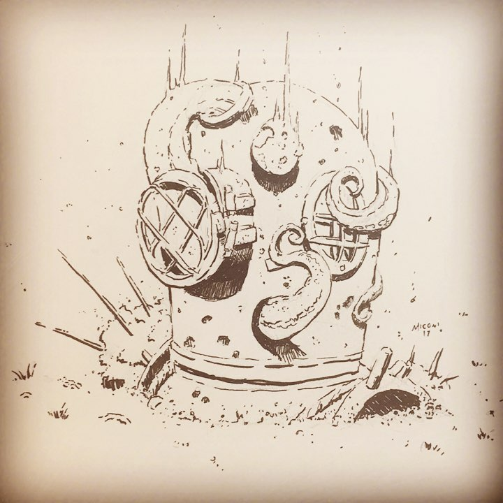 Inktober Day 4 Underwater by Adam Miconi
