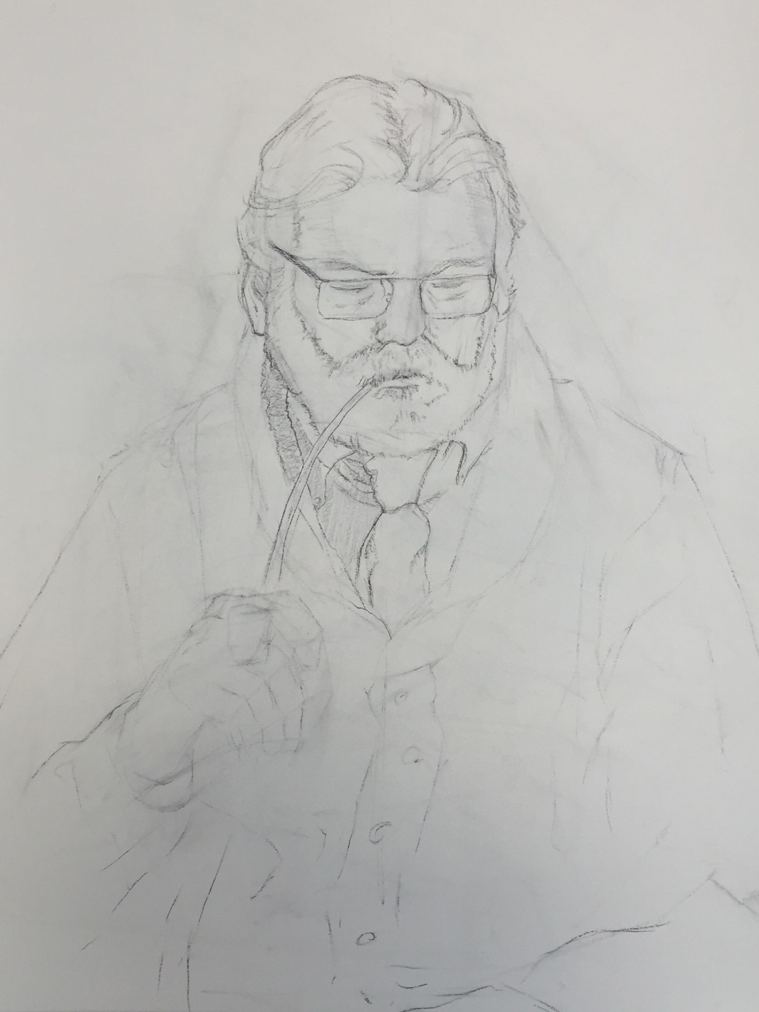 Figure Drawing | The Pastor | Committing Lines