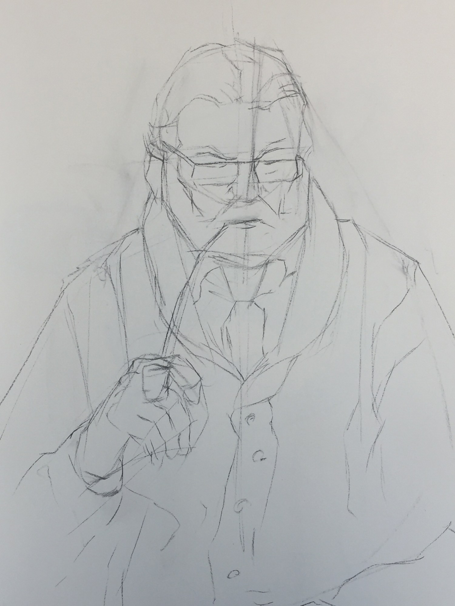 Figure Drawing | The Pastor | Structural Lines