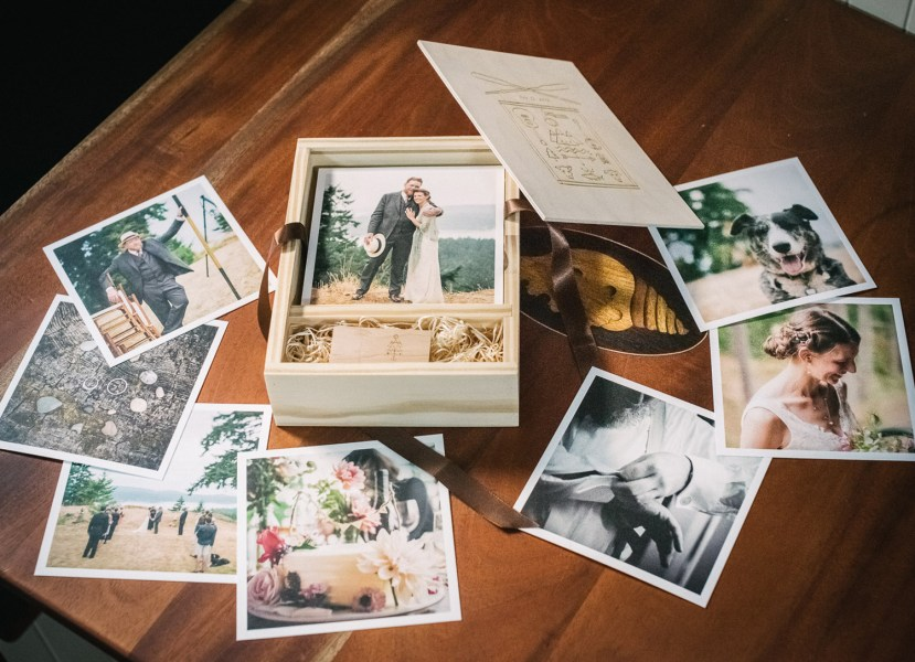 Wedding Photography Prints in a Wooden Box