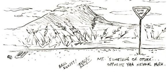 National Park sketch - New Zealand