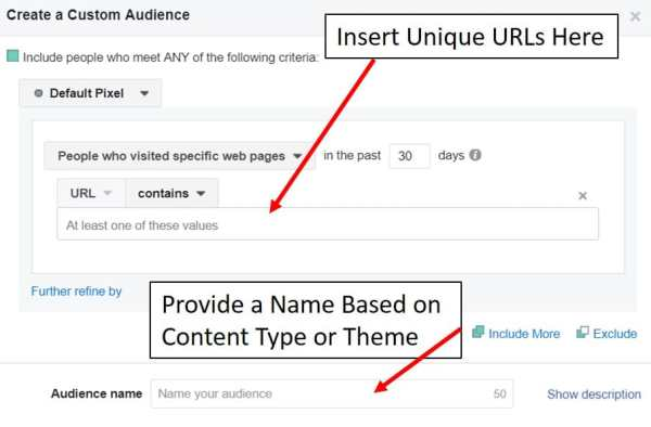 create a custom audience for facebook remarketing