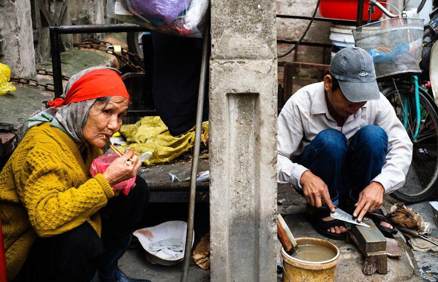 street workers hanoi