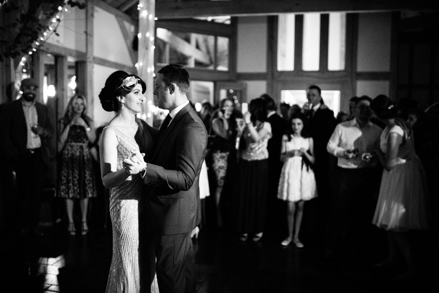 Bride and groom dance Peover gold club