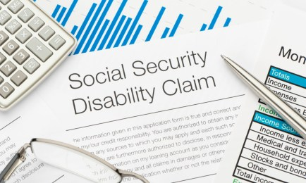 Close up of Social Security Disability Claim Form
