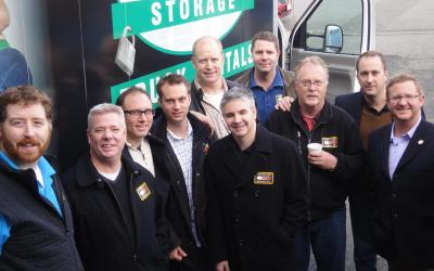 Victoria Moving Trucks deliver food to Mustard Seed