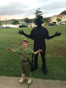 Peter pan and shadow