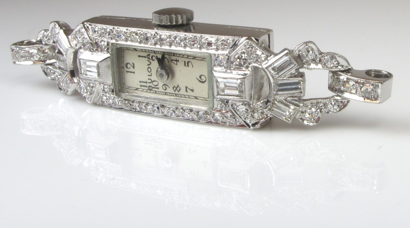 Antique Ladies Platinum Diamond Watch