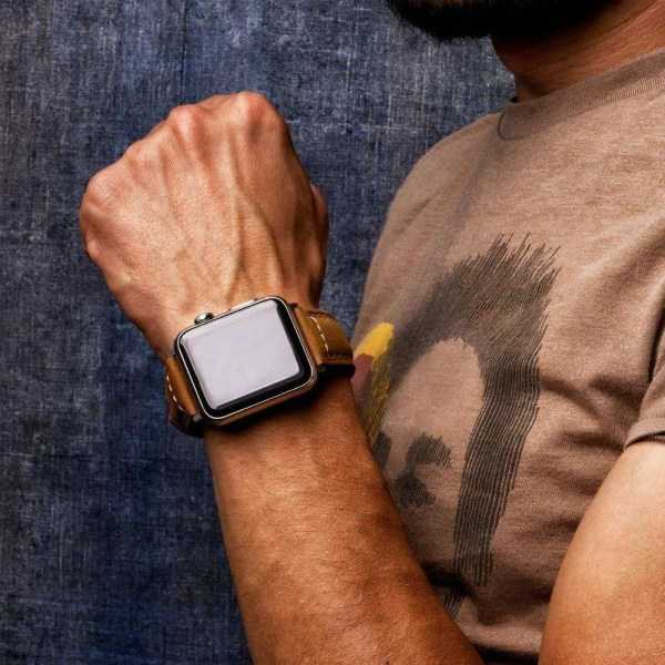 Leather apple watch band mensasonal sale.