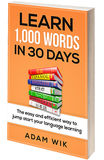 Learn 1,000 Words in 30 Days by Adam Wik Book Cover