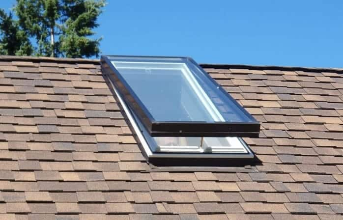 Roof Shingles with skylight