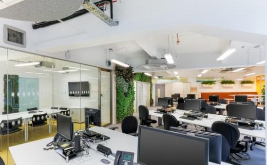UKGBC office refurbishment, Breathaplasta onto Breathaboard