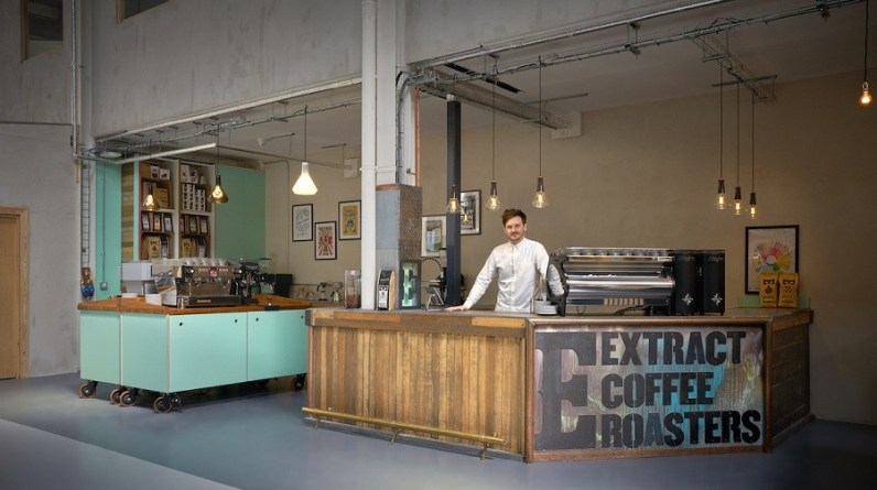 Breathaplasta installed with Extract Coffee at Sustainable Bankside, London.
