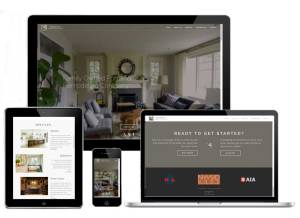 HTML website example featuring responsive design for smaller screens.