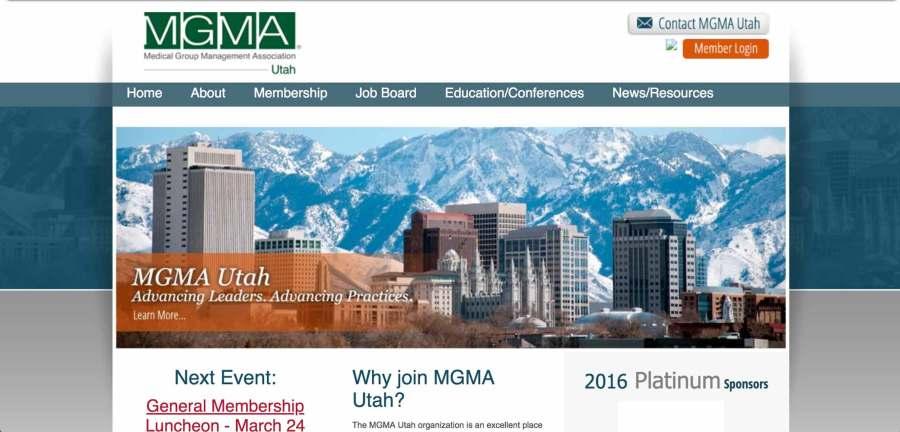 UMGMA website before the new design