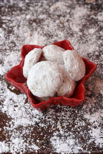 Toffee Almond Snowballs