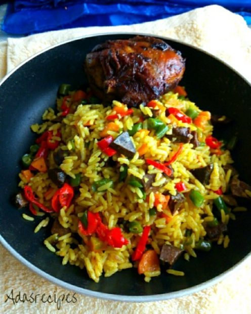 Super Nigerian Fried Rice Wins Hubby's Heart