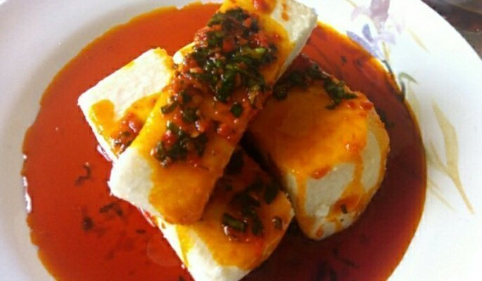Palm oil Boiled Yam Recipe (Ji Mmanu)