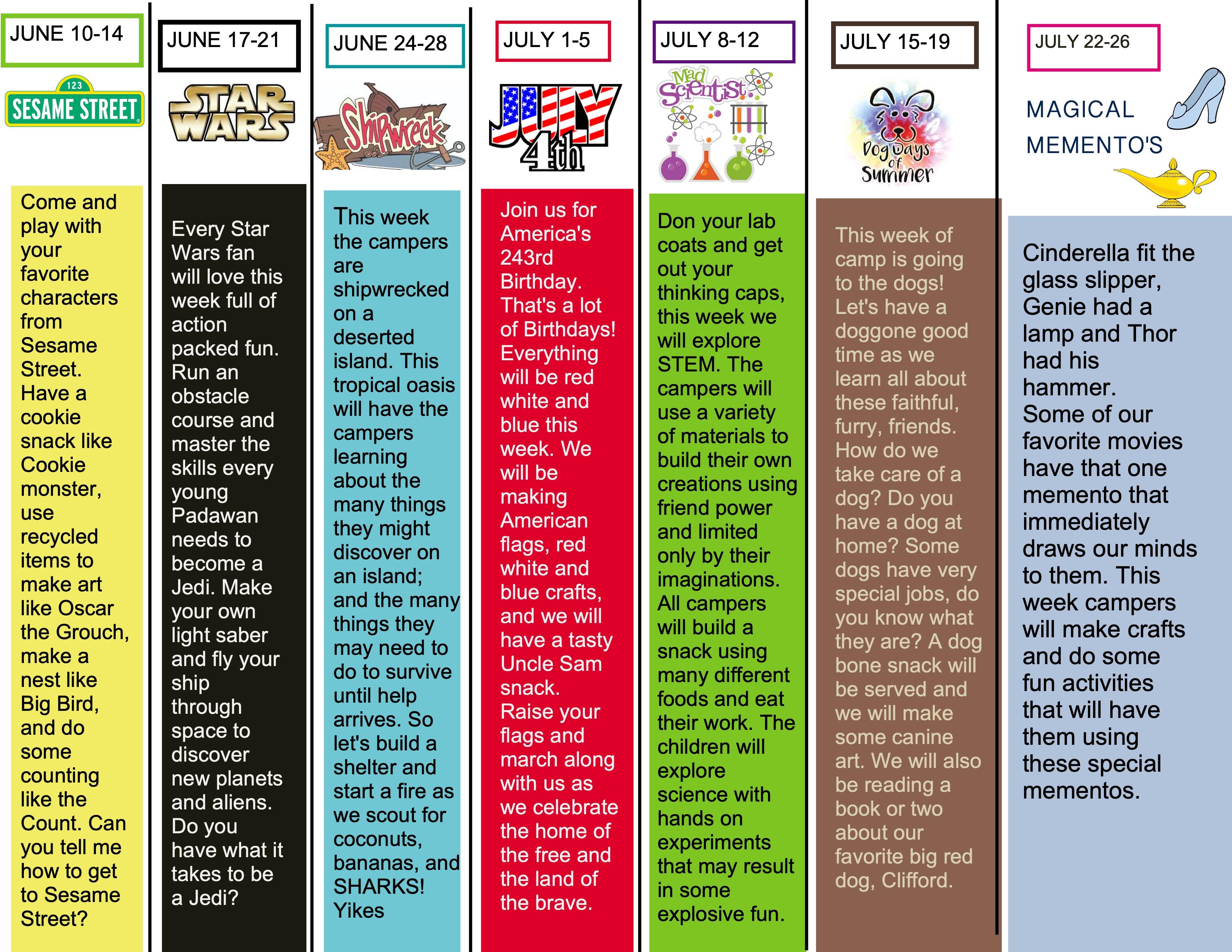 Preschool Summer Camp Ideas And Themes