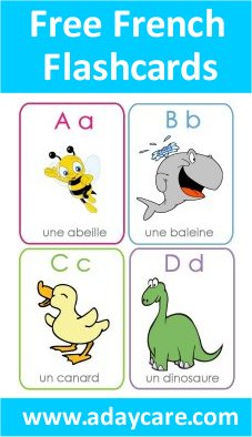 French Alphabet Flashcards Free Download ABCs Preschool ...