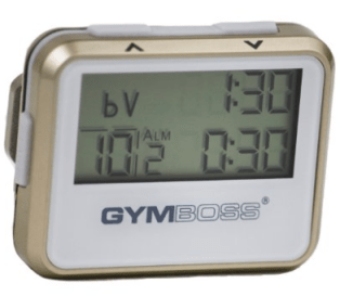 Gymboss Interval Timer and Stopwatch - GOLD / WHITE METALLIC