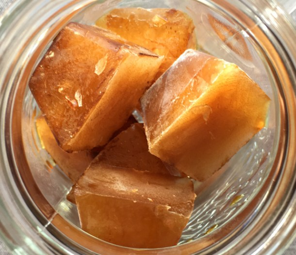 A glass of Cold Brewed Coffee Ice Cubes