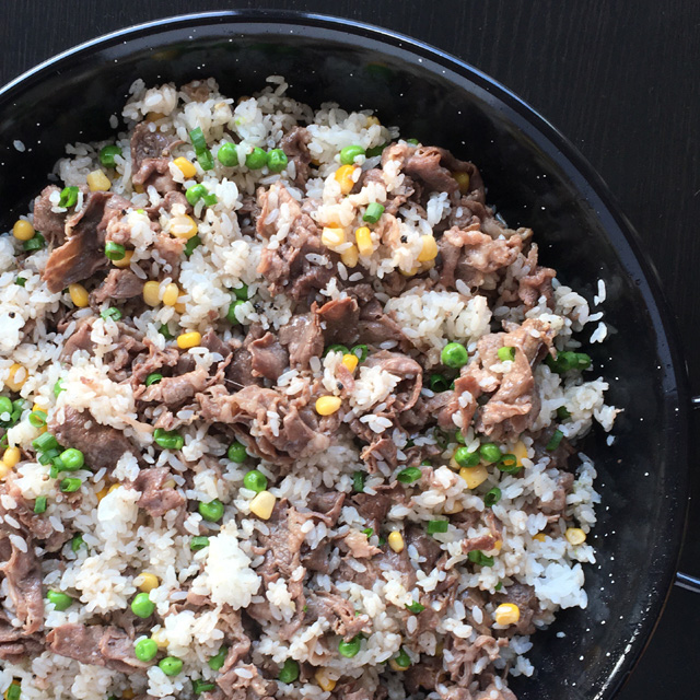 Pepper Beef Rice Skillet
