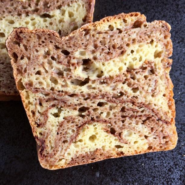 Gluten-Free Cinnamon Marble Bread