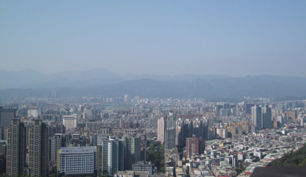 A view of Taipei from Elephant Hill