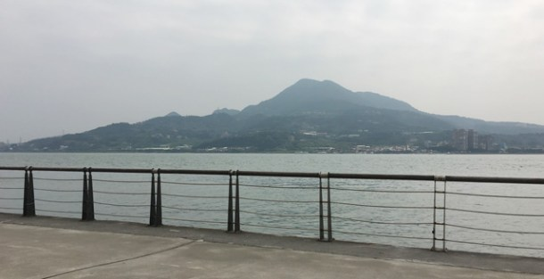 The waterfront in Tamsui in Taipei