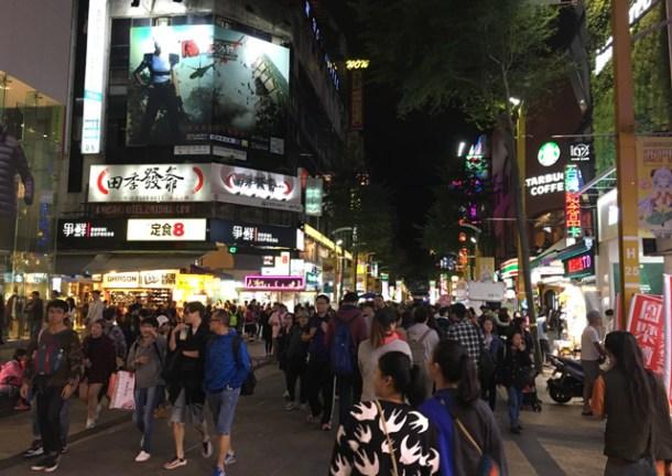 Walk around Ximending in Taipei