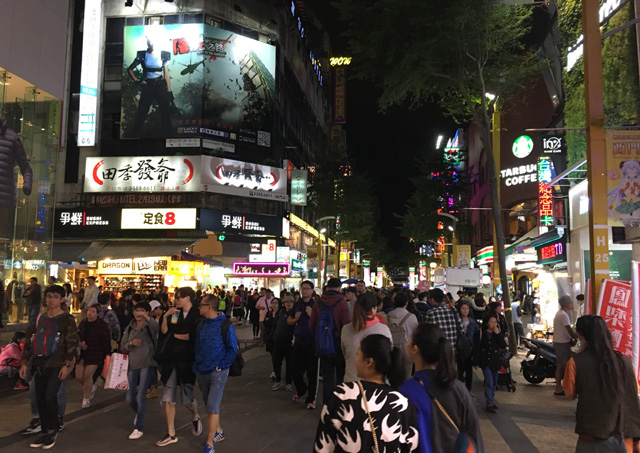 Walk around Ximending in Taipei